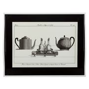 Whitelaw & Newton - Teapot On Black Large Tray