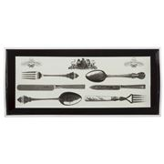 Whitelaw & Newton - Cutlery On Black Sandwich Tray