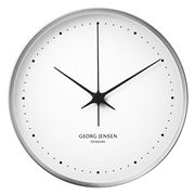 Georg Jensen - Koppel Clock White with Steel Border 30cm