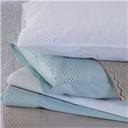 MM Linen - Lucia Duck Egg Pillowcase Set 2pce