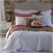MM Linen - Rosa Matelasse White King Bedspread Set