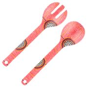Alperstein - Debbie Brown Bamboo Salad Server Set 2pce