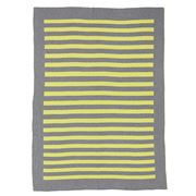 Kate and Kate - Cecile Grey Marle & Green Classic Blanket