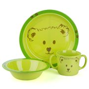 JAB Design - Green Bear Children's Dinner Set 3pce