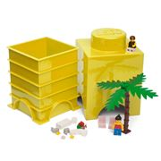 LEGO - Yellow Storage Brick 1 Stud