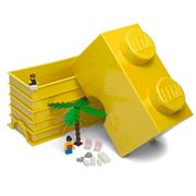 LEGO - Yellow Storage Brick 2 Studs