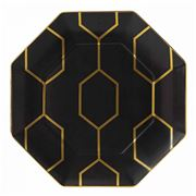 Wedgwood - Arris Charcoal Octagonal Plate 23cm