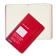 Moleskine - 2016 Pocket Red Hardcover Daily Diary