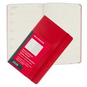 Moleskine - 2016 Large Red Hardcover Weekly Diary