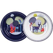 Folklore - Day & Night Enamel Plate Set 2pce