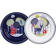 Folklore - Day & Night Enamel Plate Set 2pce