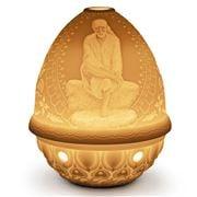 Lladro - Lithophane Votive Light Sai Baba
