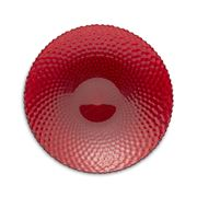 Padma - Easy Exotic Red Glass Round Serving Bowl