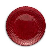 Padma - Easy Exotic Red Glass Dessert Plate