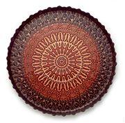 Padma - Spun Glass Plum & Berry Round Tray