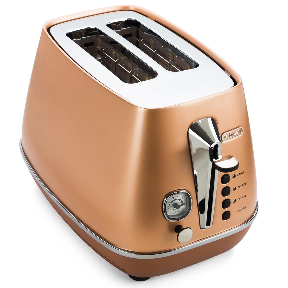DeLonghi - Distinta Copper 2 Slice Toaster | Peter's of Kensington