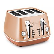 DeLonghi - Distinta Copper 4 Slice Toaster