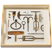 Whitelaw & Newton - Corkscrews On Cream Small Square Tray