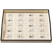 Whitelaw & Newton - Bicycles On Cream Large Tray
