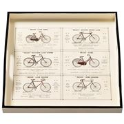 Whitelaw & Newton - Bicycles On Cream Small Square Tray
