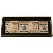 Whitelaw & Newton - Black & Gold Coffee Sandwich Tray