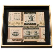Whitelaw & Newton - Black & Gold Coffee On Black Small Tray