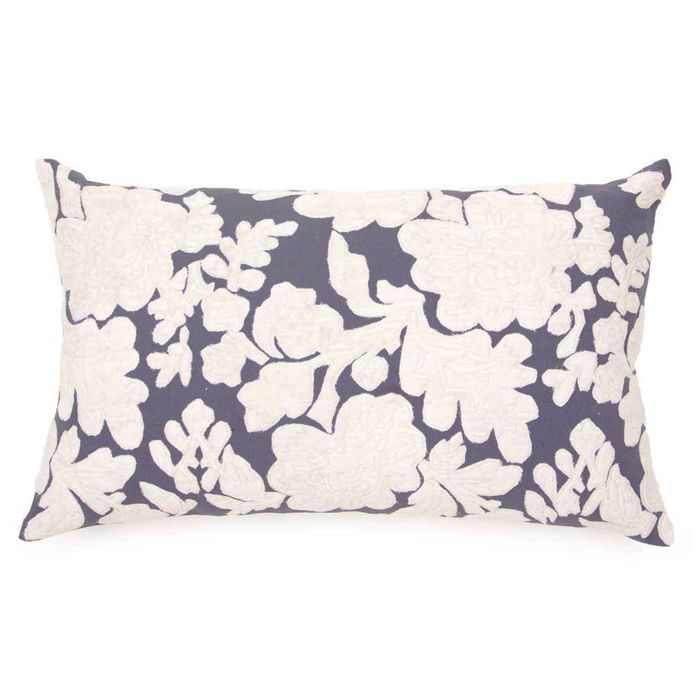 Maison velvet bella ecru and cobalt cushion 30x50cm for Au maison cushions