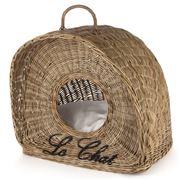 Maison - Vintage Rattan Cat Basket with Cushion