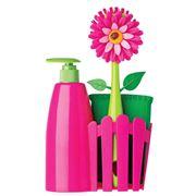 Vigar - Flower Power Pink Soap Dispenser Set 3pce
