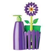 Vigar - Flower Power Purple Soap Dispenser Set 3pce