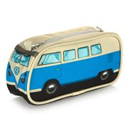 Monster Factory - VW Camper Van Blue Pencil Case