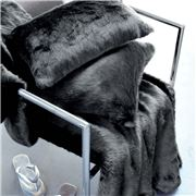 Evelyne Prelonge - Faux Fur Anthracite Grey Throw Rug