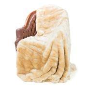 Evelyne Prelonge - Faux Fur Cream Throw Rug