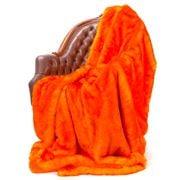 Evelyne Prelonge - Faux Fur Orange Throw Rug