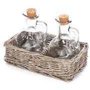 Bullseye - Willow Oil & Vinegar Basket Set 3pce