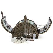 Satara - Wicker Champagne Basket Set for Two