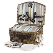 Satara - Natural Wicker Picnic Basket Set For Two