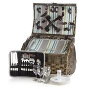 Satara - Natural Wicker Picnic Basket Set For Four