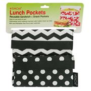 Sachi - Chevron Stripe Polka Dot Lunch Pockets Set 2pce