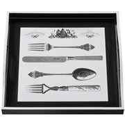 Whitelaw & Newton - Cutlery On Black Small Square Tray