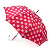 Clifton - Double Cover Red & White Polka Dots Umbrella