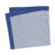 Linen & Moore - Dali Blue Herringbone Napkin
