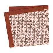 Linen & Moore - Dali Brick Herringbone Napkin