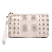 Mighty Purse - Studded Cream Purse w/ Built-In Phone Charger