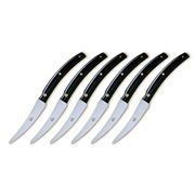 Berti - Convivio Nuovo Black Steak Knife Set 6pce
