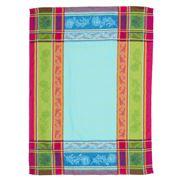 French Linen - Cezanne Jacquard Turquoise Tea Towel