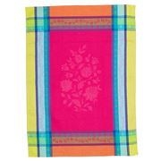 French Linen - Arles Jacquard Fuchsia Tea Towel