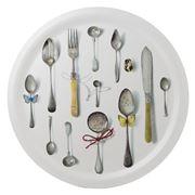 Ary Trays - Cutlery White Round Tray 49cm