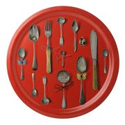 Ary Trays - Cutlery Red Round Tray 49cm