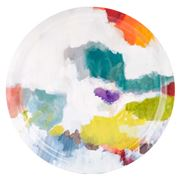 Ary Trays - Bluebell Grey Abstract Round Tray 49cm